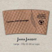 Large Bean Print Natural Java Jacket - Back
