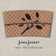 Large Bean Print Natural Java Jacket - Front