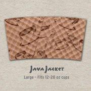 Large Scatter Print Natural Java Jacket - Back