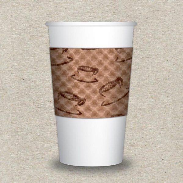 Large Scatter Print Natural Java Jacket - Cup