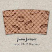 Large Scatter Print Natural Java Jacket - Front