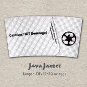 Large Bean Print White Java Jacket - Back
