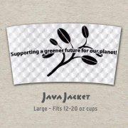 Large Bean Print White Java Jacket - Front
