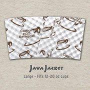 Large Scatter Print White Java Jacket - Back