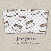 Large Scatter Print White Java Jacket - Front