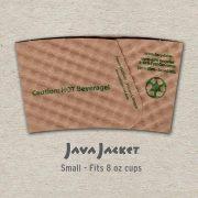 Small Bean Print Natural Java Jacket - Back