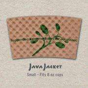 Small Bean Print Natural Java Jacket - Front