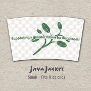 Small Bean Print White Java Jacket - Front