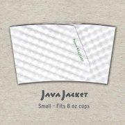 Small Blank White Java Jacket - Back
